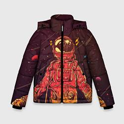 Куртка зимняя для мальчика Космос цвета 3D-черный — фото 1