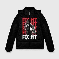 Куртка зимняя для мальчика FIGHT цвета 3D-черный — фото 1