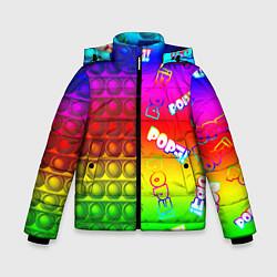 Куртка зимняя для мальчика POP it! цвета 3D-черный — фото 1