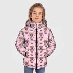 Куртка зимняя для мальчика Милая олениха цвета 3D-черный — фото 2
