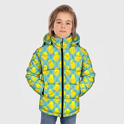Куртка зимняя для мальчика Уточка цвета 3D-черный — фото 2