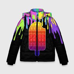 Куртка зимняя для мальчика ICE CREAM POP-IT цвета 3D-черный — фото 1