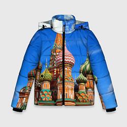 Куртка зимняя для мальчика Храм Василия Блаженного цвета 3D-черный — фото 1