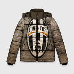 Детская зимняя куртка для мальчика с принтом Juventus, цвет: 3D-черный, артикул: 10063903706063 — фото 1