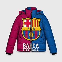 Куртка зимняя для мальчика Barca Football цвета 3D-черный — фото 1