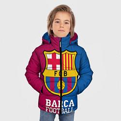 Детская зимняя куртка для мальчика с принтом Barca Football, цвет: 3D-черный, артикул: 10063905806063 — фото 2