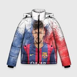 Детская зимняя куртка для мальчика с принтом Neymar FCB, цвет: 3D-черный, артикул: 10063907306063 — фото 1