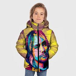 Куртка зимняя для мальчика Kurt Cobain: Abstraction цвета 3D-черный — фото 2