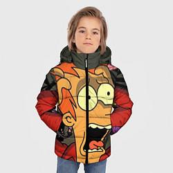Детская зимняя куртка для мальчика с принтом Frai Horrified, цвет: 3D-черный, артикул: 10064261906063 — фото 2