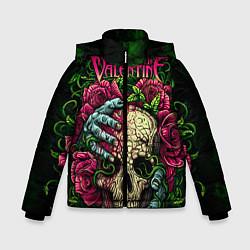Куртка зимняя для мальчика BFMV: Roses Skull цвета 3D-черный — фото 1