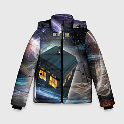 Детская зимняя куртка для мальчика с принтом Police Box, цвет: 3D-черный, артикул: 10065034706063 — фото 1