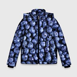 Куртка зимняя для мальчика Черника цвета 3D-черный — фото 1