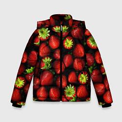 Куртка зимняя для мальчика Клубничка цвета 3D-черный — фото 1