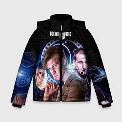 Детская зимняя куртка для мальчика с принтом Одиннадцатый Доктор, цвет: 3D-черный, артикул: 10065373106063 — фото 1