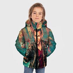 Детская зимняя куртка для мальчика с принтом Доктор кто, цвет: 3D-черный, артикул: 10065374006063 — фото 2