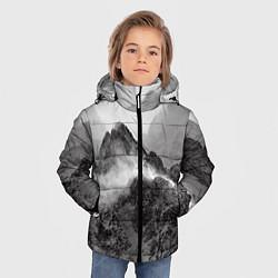 Куртка зимняя для мальчика Горы цвета 3D-черный — фото 2