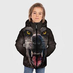 Куртка зимняя для мальчика Волчий рык цвета 3D-черный — фото 2