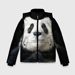 Куртка зимняя для мальчика Взгляд пандочки цвета 3D-черный — фото 1