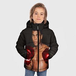 Куртка зимняя для мальчика Мухаммед Али цвета 3D-черный — фото 2