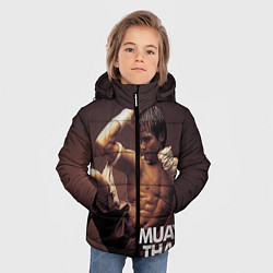 Куртка зимняя для мальчика Муай тай боец - фото 2