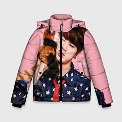 Куртка зимняя для мальчика BTS: Love Me цвета 3D-черный — фото 1