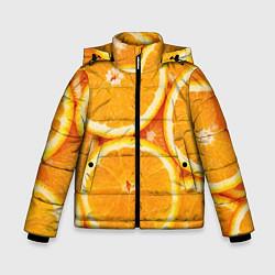 Куртка зимняя для мальчика Апельсин цвета 3D-черный — фото 1
