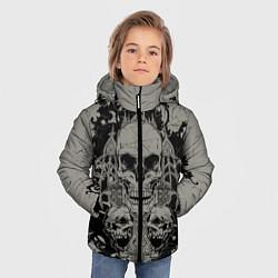 Куртка зимняя для мальчика Skulls цвета 3D-черный — фото 2