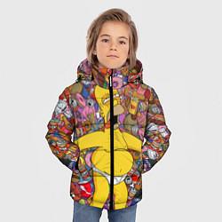 Куртка зимняя для мальчика Рай Гомера цвета 3D-черный — фото 2