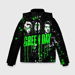 Куртка зимняя для мальчика Green Day: Acid Colour цвета 3D-черный — фото 1