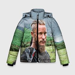Куртка зимняя для мальчика Рагнар Лодброк цвета 3D-черный — фото 1