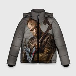 Детская зимняя куртка для мальчика с принтом Флоки, цвет: 3D-черный, артикул: 10073057606063 — фото 1