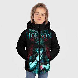 Детская зимняя куртка для мальчика с принтом BMTH: Zombie Girl, цвет: 3D-черный, артикул: 10073644406063 — фото 2