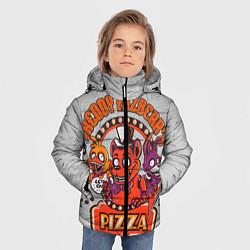 Детская зимняя куртка для мальчика с принтом Freddy Pizza, цвет: 3D-черный, артикул: 10073826506063 — фото 2