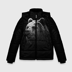 Куртка зимняя для мальчика Взгляд мишки цвета 3D-черный — фото 1
