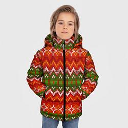 Куртка зимняя для мальчика Зимний узор цвета 3D-черный — фото 2