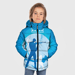 Куртка зимняя для мальчика Биатлон цвета 3D-черный — фото 2