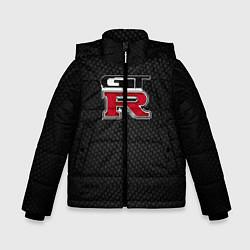 Куртка зимняя для мальчика Nissan GTR цвета 3D-черный — фото 1