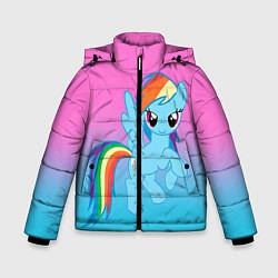 Детская зимняя куртка для мальчика с принтом My Little Pony, цвет: 3D-черный, артикул: 10075443506063 — фото 1