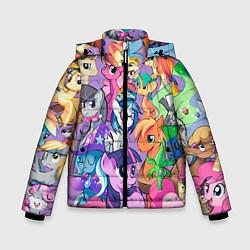 Куртка зимняя для мальчика My Little Pony цвета 3D-черный — фото 1