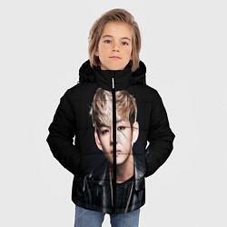 Куртка зимняя для мальчика Вишня цвета 3D-черный — фото 2