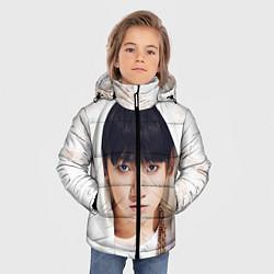 Детская зимняя куртка для мальчика с принтом Jeon Jung Kook, цвет: 3D-черный, артикул: 10076888306063 — фото 2