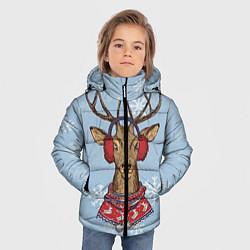Куртка зимняя для мальчика Зимний олень цвета 3D-черный — фото 2