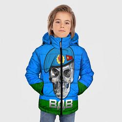Куртка зимняя для мальчика Череп: ВДВ цвета 3D-черный — фото 2