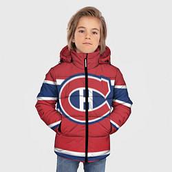 Детская зимняя куртка для мальчика с принтом Montreal Canadiens, цвет: 3D-черный, артикул: 10079438006063 — фото 2