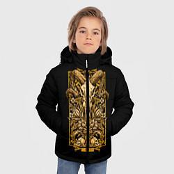 Куртка зимняя для мальчика Овен цвета 3D-черный — фото 2
