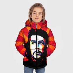 Куртка зимняя для мальчика Че Гевара цвета 3D-черный — фото 2