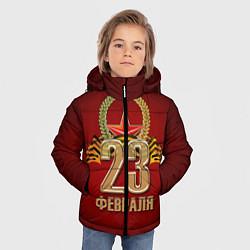 Куртка зимняя для мальчика 23 февраля цвета 3D-черный — фото 2