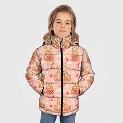 Куртка зимняя для мальчика Love Teddies цвета 3D-черный — фото 2