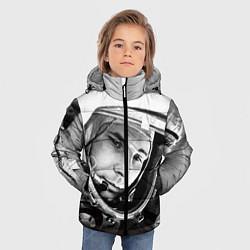 Куртка зимняя для мальчика Юрий Гагарин цвета 3D-черный — фото 2