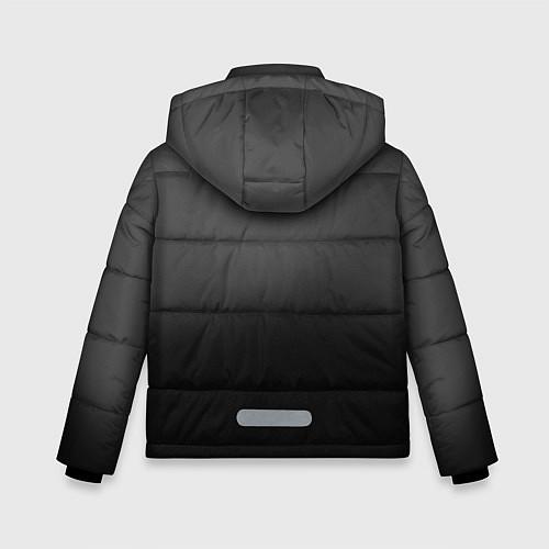 Зимняя куртка для мальчика Группа Кино / 3D-Черный – фото 2